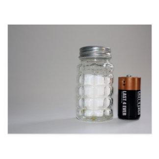 Ein Salz und eine Batterie Postkarte