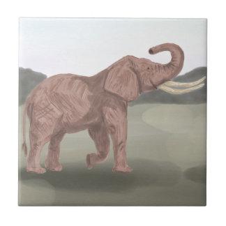 Ein Savanneelefant Keramikfliese