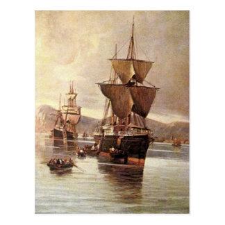 ein Schiff in Meer 04 Postkarte