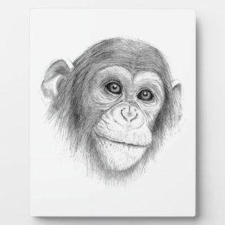 Ein Schimpanse, nicht herum Monkeying Skizze Fotoplatte