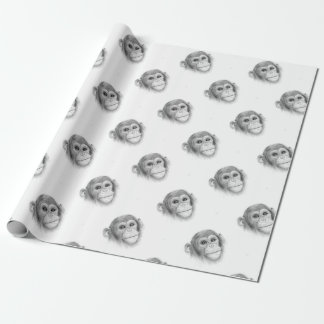 Ein Schimpanse, nicht herum Monkeying Skizze Geschenkpapier