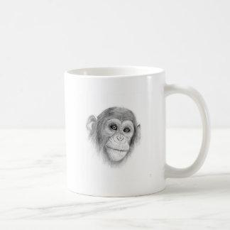 Ein Schimpanse, nicht herum Monkeying Skizze Kaffeetasse
