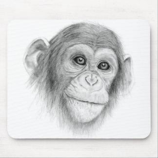 Ein Schimpanse, nicht herum Monkeying Skizze Mousepad