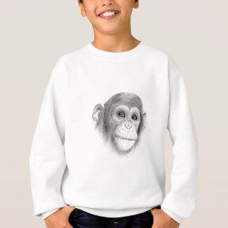 Ein Schimpanse, nicht herum Monkeying Skizze Sweatshirt