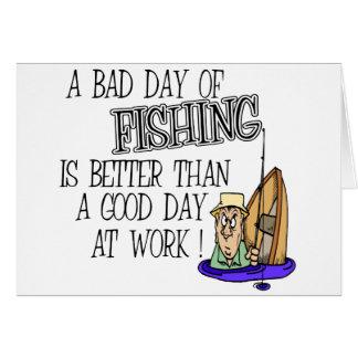 Ein schlechter Tag des Fischens… Grußkarte