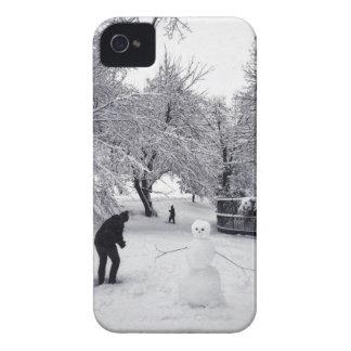 Ein Schneeball-Kampf im Central Park iPhone 4 Case-Mate Hülle