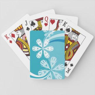 Ein Schneeflocke-Sturm Spielkarten