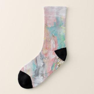 Ein schöner Tag - abstrakte Malerei-kleine Socken
