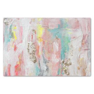 Ein schöner Tag - Mischmedium-abstrakte Malerei Seidenpapier