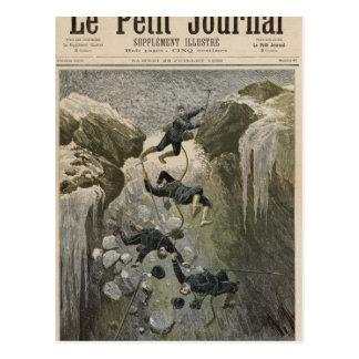 Ein schrecklicher Unfall in den Alpen Postkarte