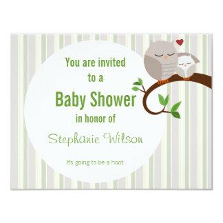 Ein Schrei einer Babyparty-Eulen-Einladung 10,8 X 14 Cm Einladungskarte