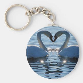 Ein Schwan-Herz-Kuss, Reflexionen der Liebe Schlüsselbänder