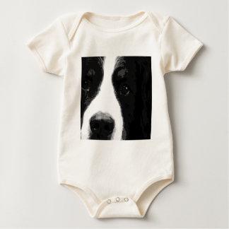 Ein Schwarzweiss-Bernese Gebirgshund Baby Strampler