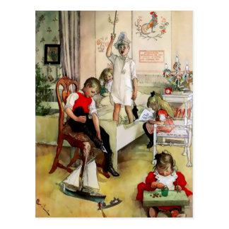 """Ein schwedischer """"Weihnachtsmorgen"""" durch Carl Postkarte"""