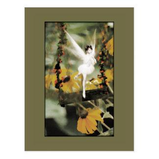 Ein Schwingen in der Garten-Postkarte Postkarte