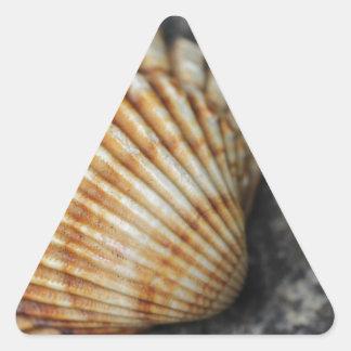 ein Seeoberteil Dreieckiger Aufkleber