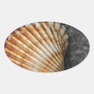 ein Seeoberteil Ovaler Aufkleber