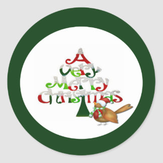 Ein sehr frohe Weihnacht-Feiertag Runder Aufkleber