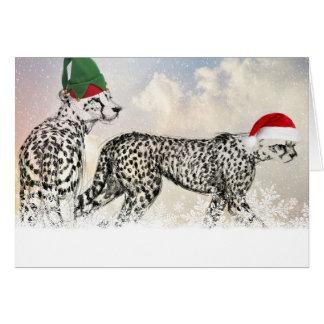 Ein sehr Gepard-Weihnachten Karte