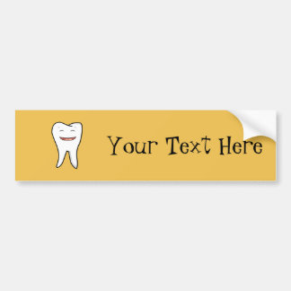 Ein sehr glücklicher Zahn Autoaufkleber