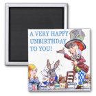 Ein sehr glückliches Unbirthday zu Ihnen! Quadratischer Magnet