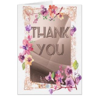 Ein sehr schönes danken Ihnen, mit Blüten zu Karte