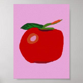 Ein Single Apple hellrosa Poster