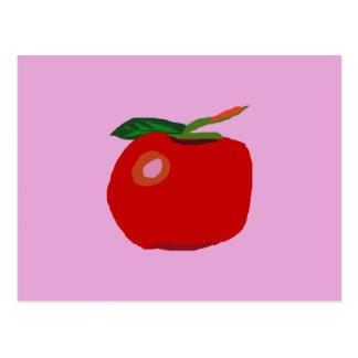 Ein Single Apple hellrosa Postkarte