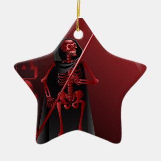 Ein Skelett mit einer Sense glückliches Halloween Keramik Ornament