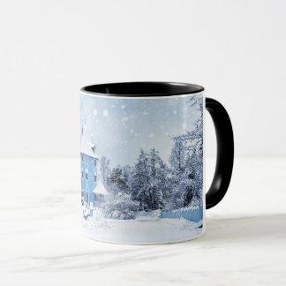 Ein snowy-Winter-Abend Tasse