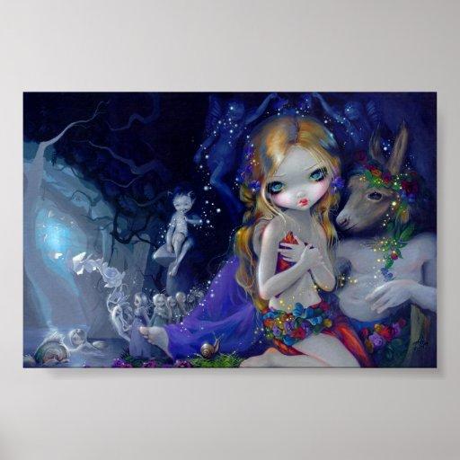 Ein Sommernachtstraum-Kunst-Druckfee Titania Plakate