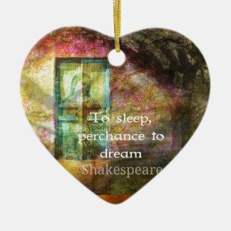 Ein Sommernachtstraum-Zitat durch Shakespeare Keramik Herz-Ornament