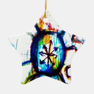 Ein Soul auf Feuer Keramik Ornament