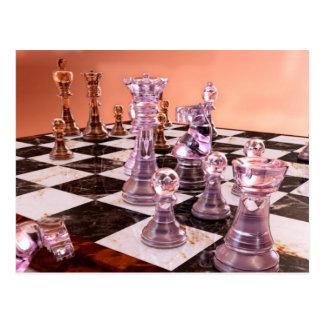 Ein Spiel des Schachs Postkarte