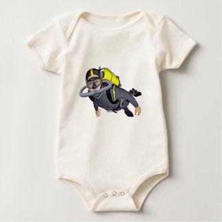 Ein Sporttaucher Baby Strampler
