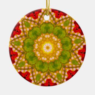 Ein Spotty WeihnachtsFraktal Keramik Ornament