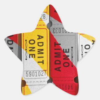 Ein Spritzen der Karten Stern-Aufkleber