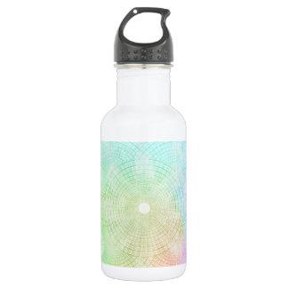 Ein Spritzen der Pastellwasser-Flasche Edelstahlflasche