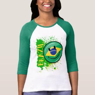 Ein Spritzen lächelnder Flagge Brasiliens T-Shirt
