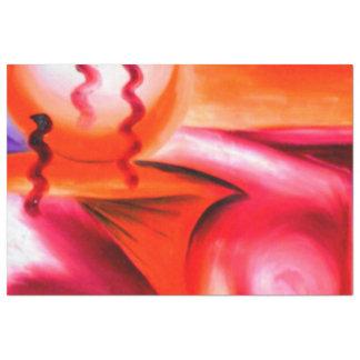 Ein Spritzen von Jazz u. von Farbe.  Schweres Seidenpapier