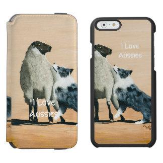 """""""Ein starker Schäferhund-"""" Malerei iPhone 6 Incipio Watson™ iPhone 6 Geldbörsen Hülle"""
