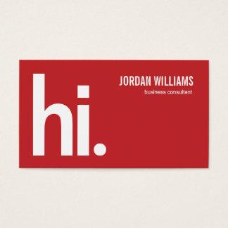 Ein starkes hallo - moderne Visitenkarte - Rot