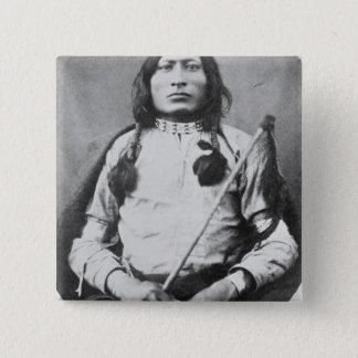 Ein Stier-Krieger, 1882 (b/w Foto) Quadratischer Button 5,1 Cm