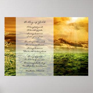 Ein Strahl von Gold~ Träumen des Liebe-Gedichtes Poster