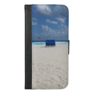Ein Strand-Stuhl erwartet iPhone 6/6s Plus Geldbeutel Hülle