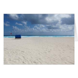 Ein Strand-Stuhl erwartet Karte