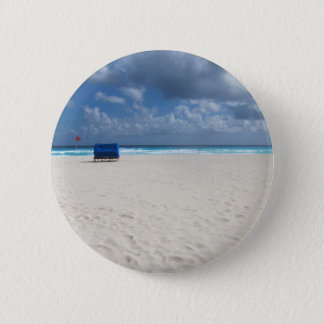 Ein Strand-Stuhl erwartet Runder Button 5,1 Cm