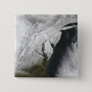 Ein strenger Wintersturm 2 Quadratischer Button 5,1 Cm