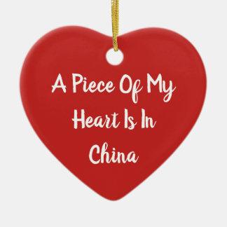 Ein Stück meines Herzens ist in der Keramik Ornament