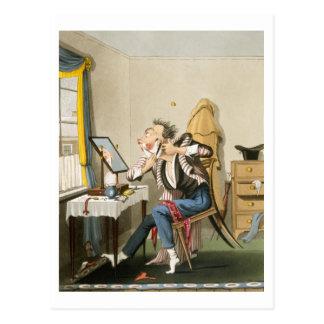 Ein stumpfes Rasiermesser, Kneipe. durch Jagd 1827 Postkarte